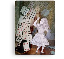 Alice In Wonderland/The Pack of Cards Metal Print