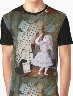 Alice In Wonderland/The Pack of Cards Graphic T-Shirt
