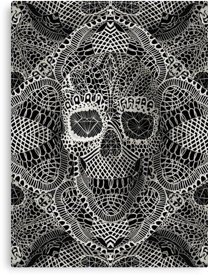 Lace Skull by Ali Gulec