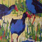 Swamphen Trio by Mellissa Read-Devine