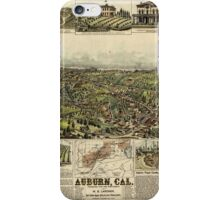 Panoramic Maps Auburn California iPhone Case/Skin