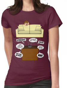 Behind The Sofa! Womens Fitted T-Shirt
