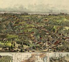 Panoramic Maps Auburn California Sticker