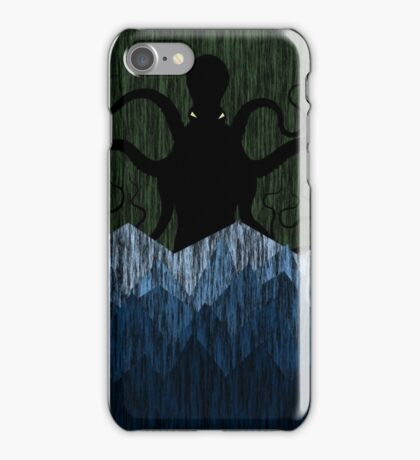 Cthulhu's sea of madness - Green iPhone Case/Skin