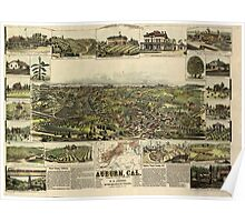 Panoramic Maps Auburn California Poster