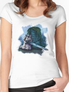 Great Grey Doge Sif Women's Fitted Scoop T-Shirt