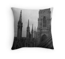 Rooftop York Minster, Buttresses Throw Pillow