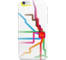 Chicago CTA Rainbow Map iPhone Case/Skin