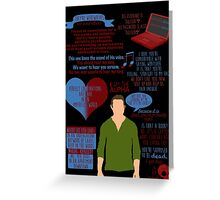 Peter Hale Quotes Greeting Card