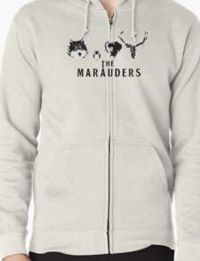 The Marauders ( White Version) Zipped Hoodie