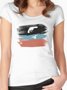 Guns and Peace - T-Shirt Women's Fitted Scoop T-Shirt