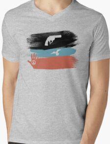 Guns and Peace - T-Shirt Mens V-Neck T-Shirt