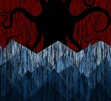 Cthulhu's sea of madness - Red by Ednathum
