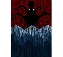 Cthulhu's sea of madness - Red Photographic Print