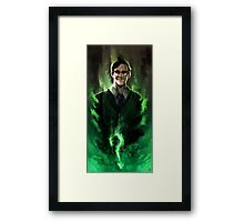 Riddle me this! Framed Print