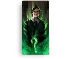 Riddle me this! Canvas Print