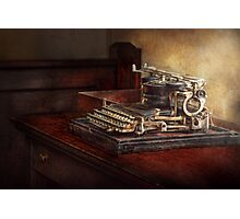 Steampunk - A crusty old typewriter Photographic Print