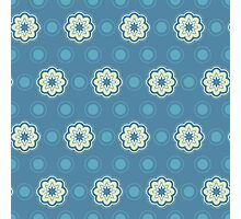 Pattern in circles, dot and flowers Photographic Print