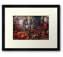Steampunk - My transportation device Framed Print
