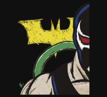 Bane With Batman Logo by moosegod