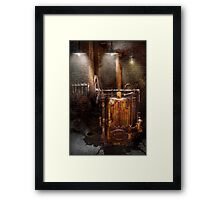 Steampunk - Powering the modern home Framed Print