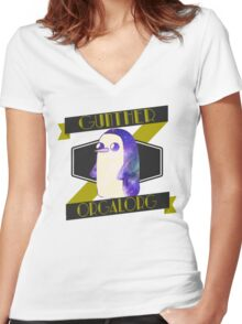 Orgalorg/Gunther Women's Fitted V-Neck T-Shirt