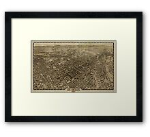 Panoramic Maps Los Angeles 1909 Framed Print