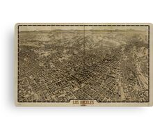 Panoramic Maps Los Angeles 1909 Canvas Print
