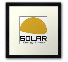 Solar Energy Zones Framed Print