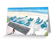 Fishing Boats in Northwest Morocco Greeting Card