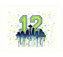 Seattle 12th Man Art for Seahwks Art Print