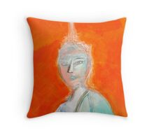 Inner city girl Throw Pillow