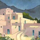 Taos Pueblo by Geoff  Powell