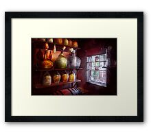 Bar - Bottles - Check out these BIG Jugs  Framed Print