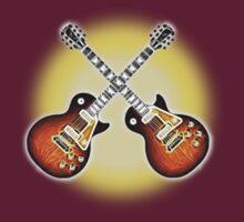 Crossed Guitars by Ra12