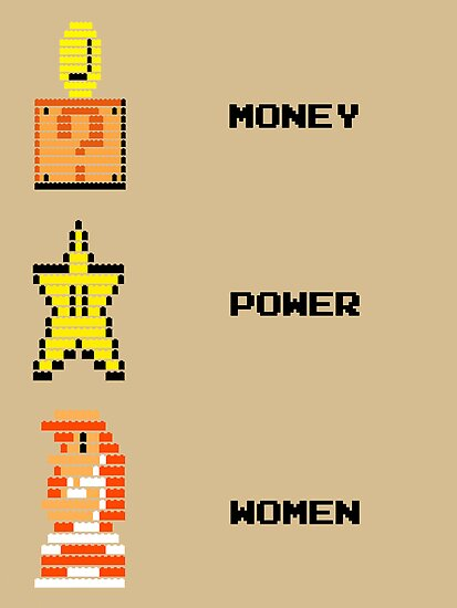 Super Mario Money Power Women by McLovely