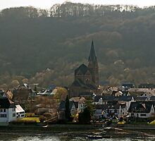 Village of Spay, Rhine Gorge, Germany. by David A. L. Davies