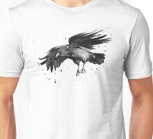 Raven Watercolor Unisex T-Shirt