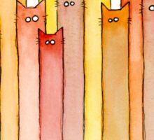 Cats Pattern Autumn Colors Sticker