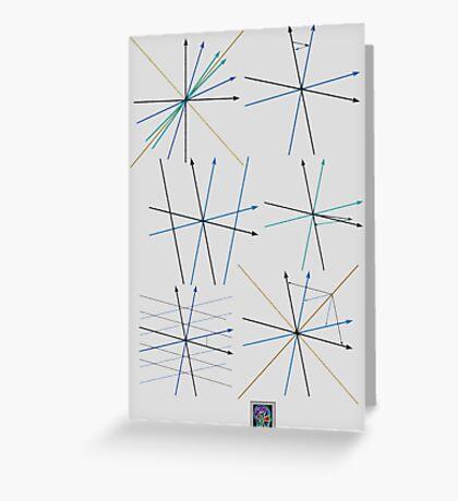"""Minkowski Spacetime - BLUE""© Greeting Card"