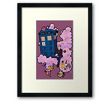Ninth Doctor and Tardis Framed Print
