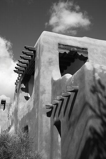 Santa Fe Adobe Building by Frank Romeo