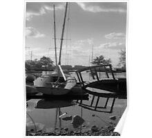 Boats & Bridge Poster