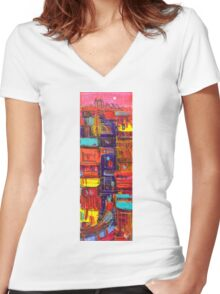 Under construction Women's Fitted V-Neck T-Shirt