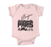 Bonjour Paris France One Piece - Short Sleeve