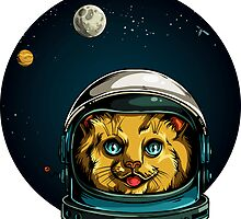Space Kitty Astronaut Cat  by headpossum