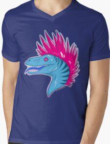 .:Punk Raptor:. Mens V-Neck T-Shirt