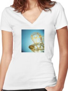 Yellow Fun Women's Fitted V-Neck T-Shirt