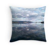 River Clyde, Scotland Throw Pillow