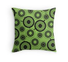 Retro pattern with circles, geometric, abstract Throw Pillow
